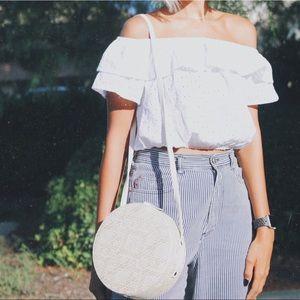 Lulus circle straw bag